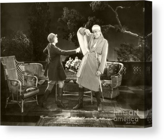 Desert Canvas Print featuring the photograph The Desert Song 1929 by Sad Hill - Bizarre Los Angeles Archive