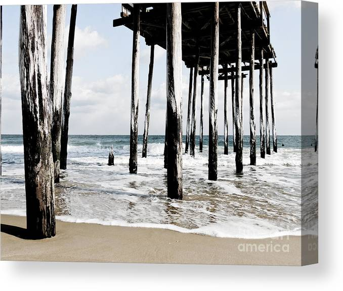 Ocean City Canvas Print featuring the photograph The Pier by Lana Hauser