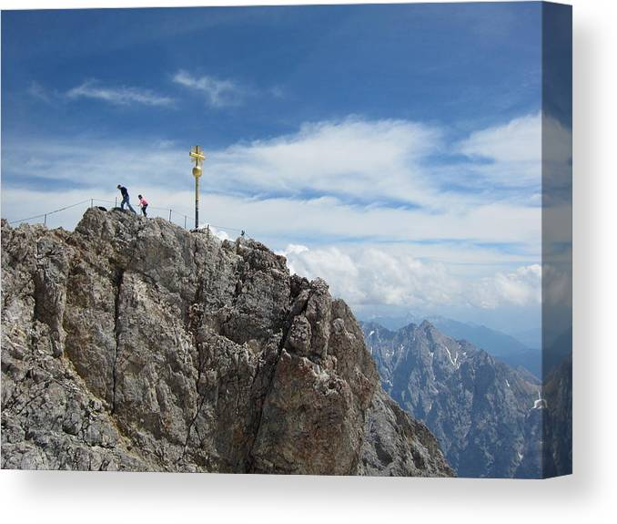 Summit Canvas Print featuring the photograph The Summit by Pema Hou