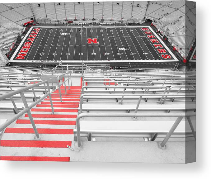Unl Canvas Print featuring the photograph This Way To Game Day by Caryl J Bohn