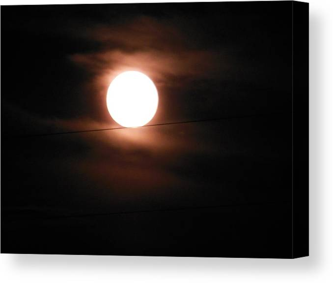 Moon Canvas Print featuring the photograph Tightrope Walker by Wild Thing