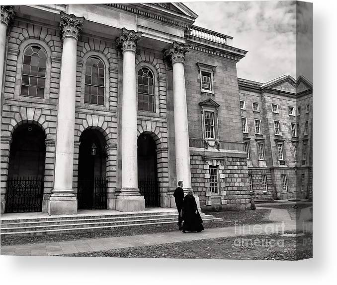 Trinity Canvas Print featuring the photograph Trinity College Examination Hall by Menega Sabidussi