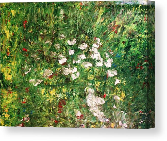 Landscape Canvas Print featuring the painting Walk Again...the Same Path..number 2.. by Adolfo hector Penas alvarado