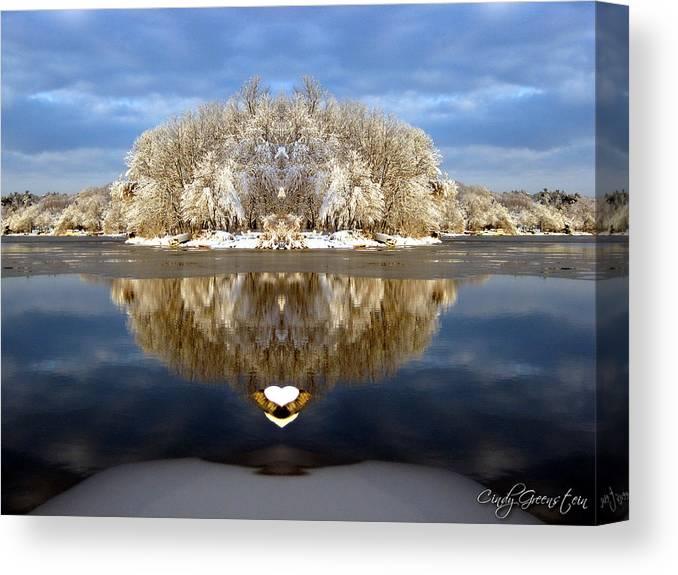 Winter Canvas Print featuring the photograph Winter Wonderland Love by Cindy Greenstein