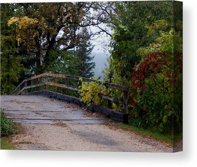 Autumn Canvas Print featuring the photograph Wooden Lane by Wild Thing