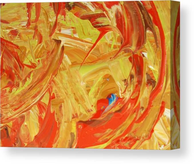 Original Canvas Print featuring the painting World Wide Abstract by Artist Ai