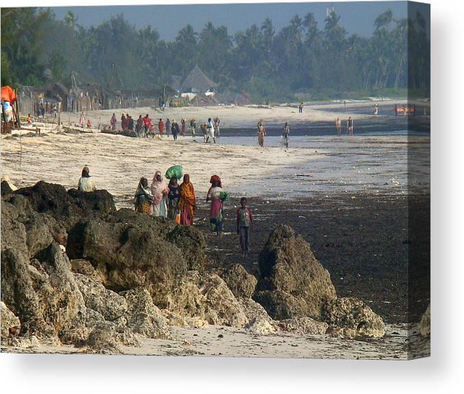 Zanzibar Canvas Print featuring the photograph Zanzibar Beach 14 by Giorgio Darrigo