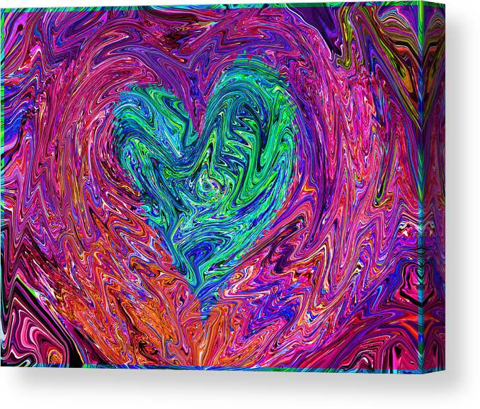 This Piece (love From The Ripple Of Thought ) Is Love For Any And Every Occasion Canvas Print featuring the mixed media Love From The Ripple Of Thought V 3 by Kenneth James