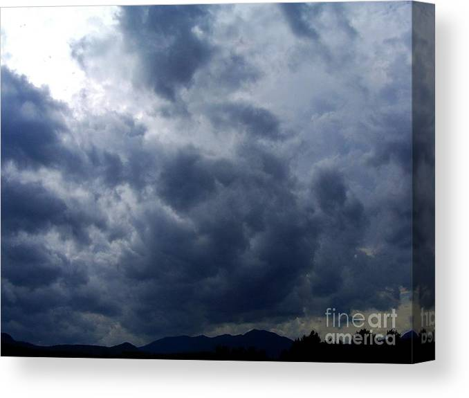 Canvas Print featuring the photograph A Storm Rolls In From The West 5 by Peggy Miller