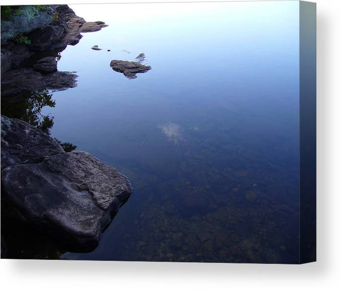 Calm Canvas Print featuring the photograph Calm Waters by Shirley Radebach