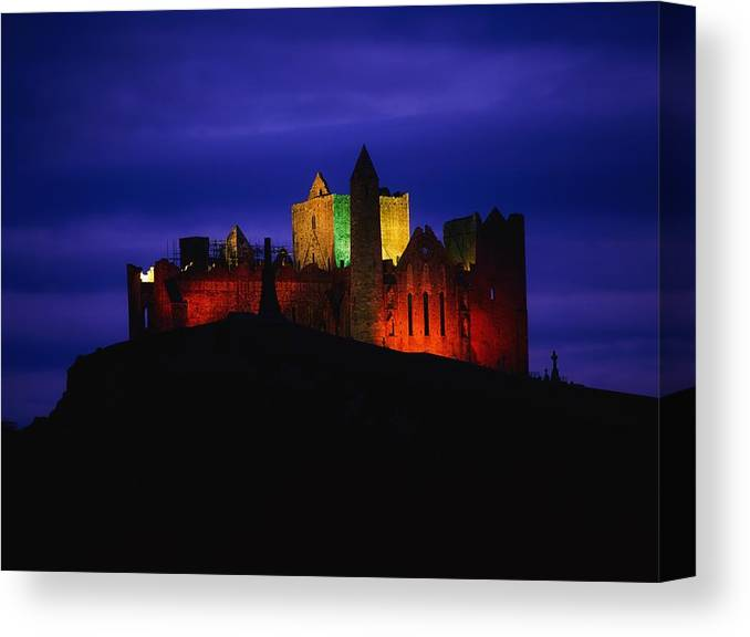 Architectural Heritage Canvas Print featuring the photograph Cashel Rock, Co Tipperary, Ireland by The Irish Image Collection