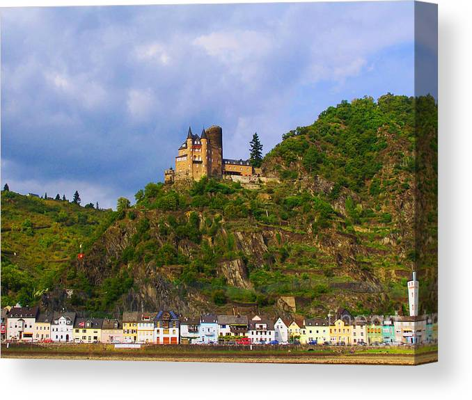 Scenery Canvas Print featuring the photograph Castle On The Rhine by Patricia Land