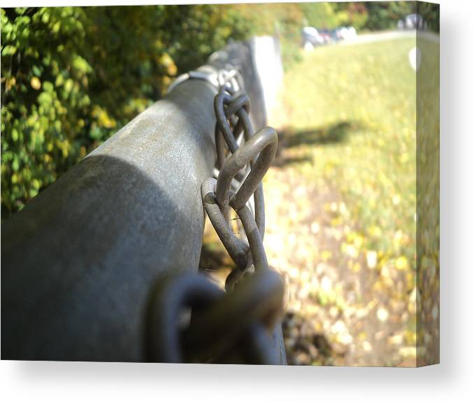 Fence Canvas Print featuring the photograph Chain-link Fence by Wes Allen