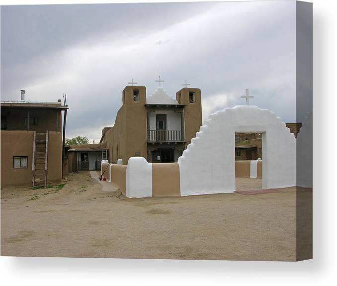 Catholic Church Canvas Print featuring the photograph Church Of Sa Geronimo by Helen Haw