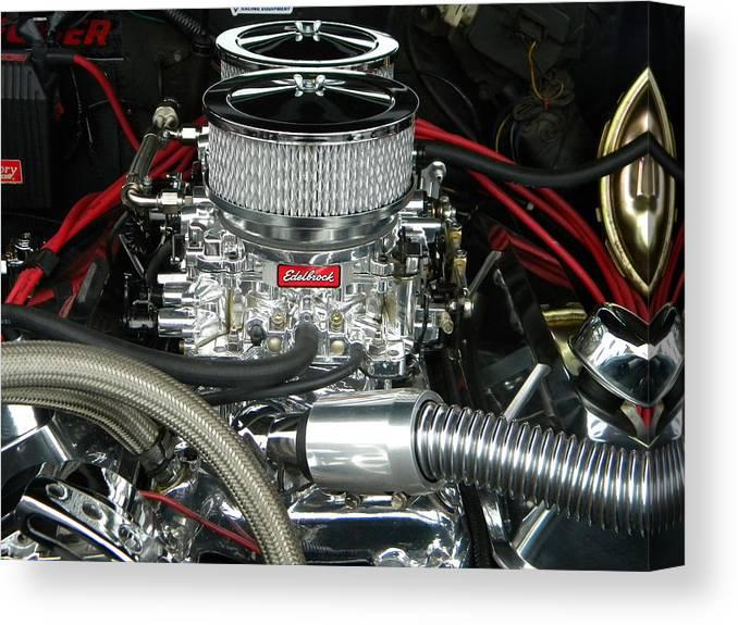 Edelbrock Carburetor Canvas Print
