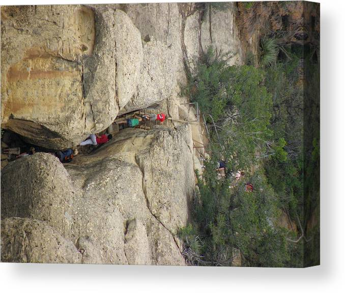 Cliff Palace Canvas Print featuring the photograph Exiting Cliff Palace by FeVa Fotos