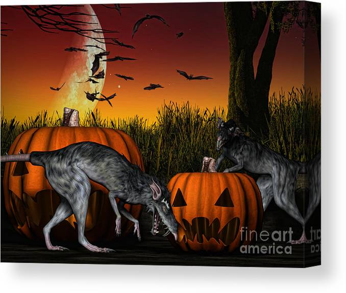 Cgi Canvas Print featuring the digital art Field Of Nightmares by Alexander Butler