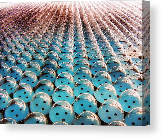 Architecture Canvas Print featuring the photograph Giant Bubble Wrap by Mary Lane