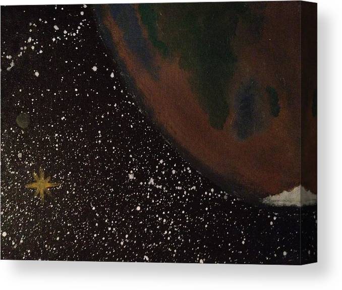 Space Canvas Print featuring the painting Home Star by Jonathan Fussell