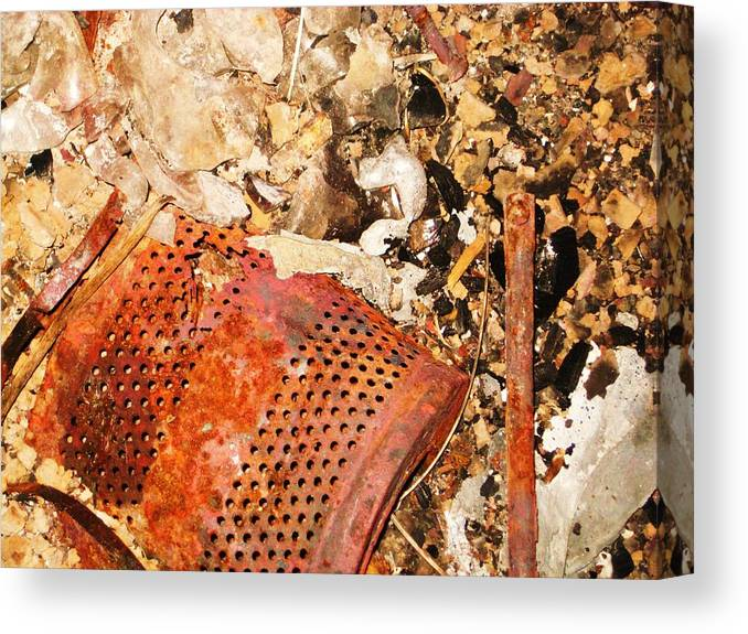 Waste Canvas Print featuring the photograph Industrial Burn 3 by Bryan Wulf
