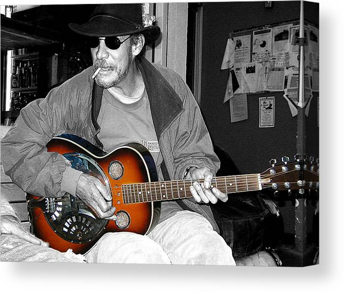People Canvas Print featuring the photograph Jammin' by Gil Kanat