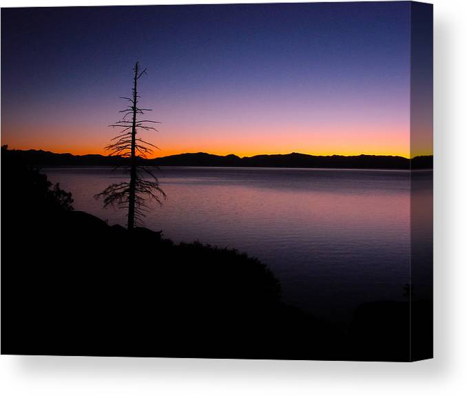 Lake Tahoe Sunset Gradient Canvas Print Canvas Art By Scott Mcguire