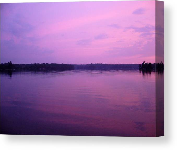 Sunset Canvas Print featuring the photograph Lavender Glow by Shirley Radebach