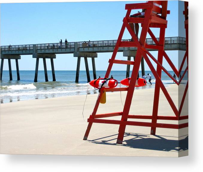 Lifeguard Canvas Print featuring the photograph Lifeguard by Jason Crandell
