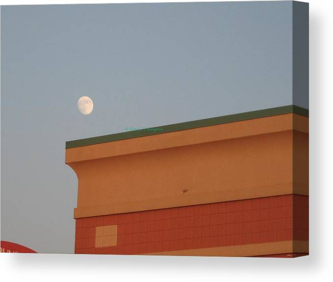 Hold The Moon Canvas Print featuring the photograph Lunar Perspective by Sonali Gangane