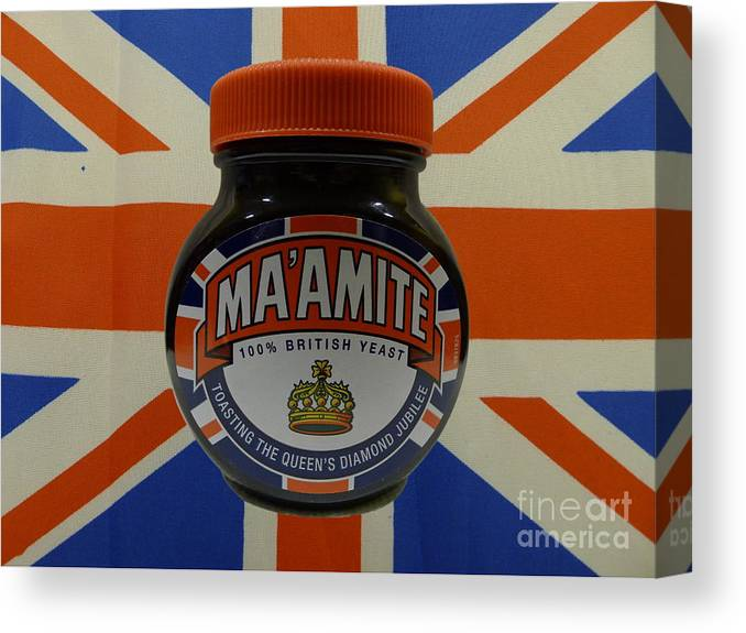Marmite Canvas Print featuring the photograph Marmite The Growing Up Spread by Richard Reeve