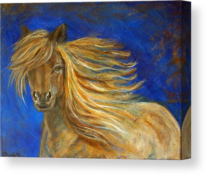 Horse Canvas Print featuring the painting Midnight Amber by The Art With A Heart By Charlotte Phillips