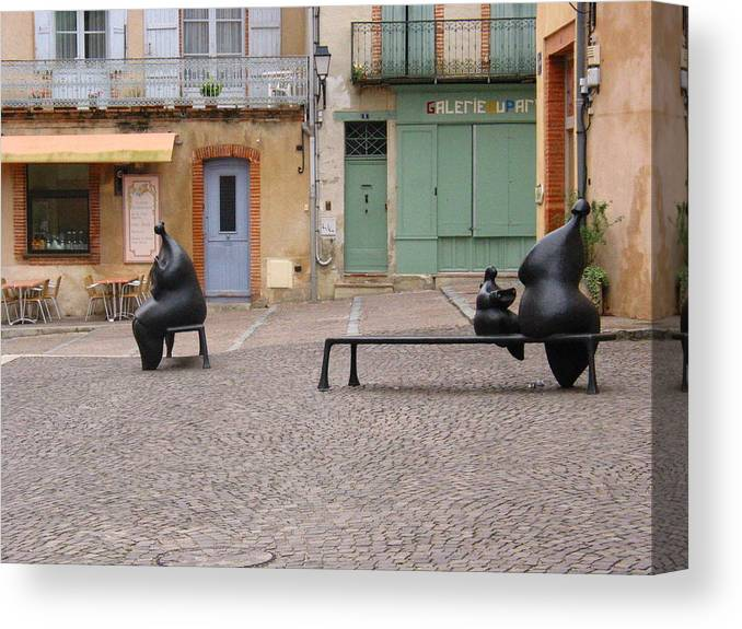 Sculpture Canvas Print featuring the photograph Moissac by David Dalrymple