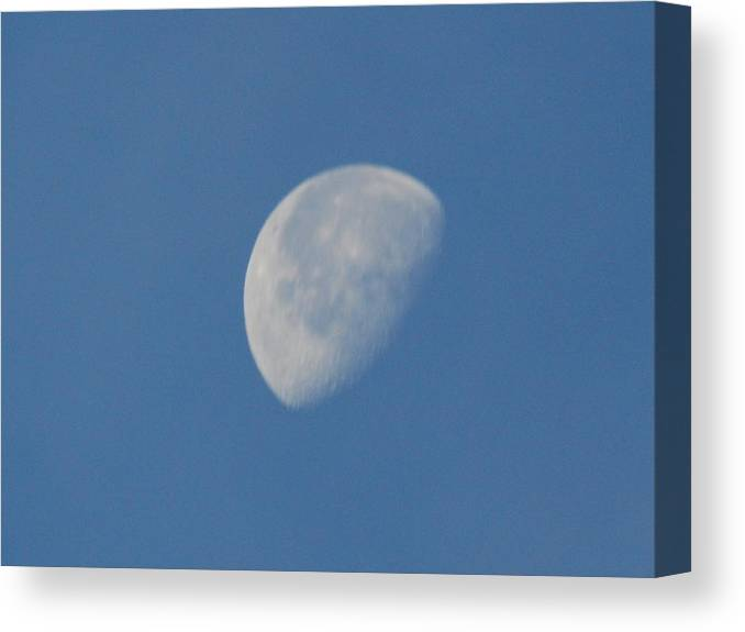 Moon Canvas Print featuring the photograph Morning Moon by Michael Merry