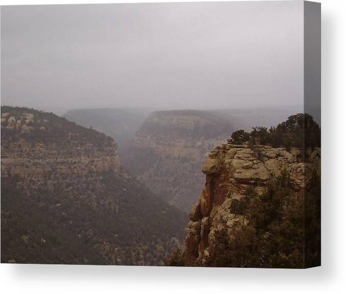 Navajo Canyon Canvas Print featuring the photograph Navajo Canyon by FeVa Fotos