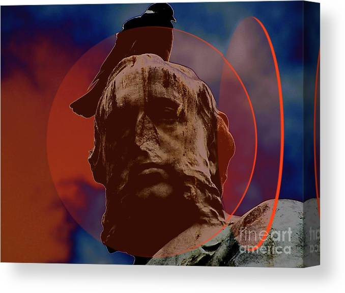 Imagination Canvas Print featuring the mixed media Nose Head by Yury Bashkin