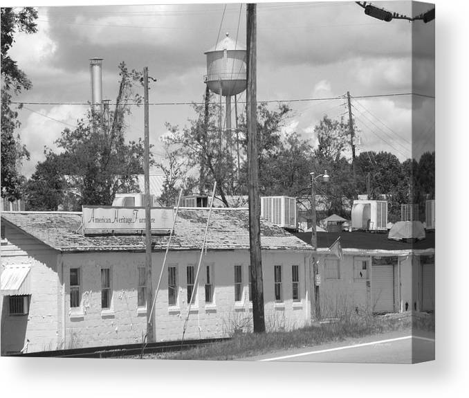 Old Canvas Print featuring the photograph Old Factory by Mark Sharpton