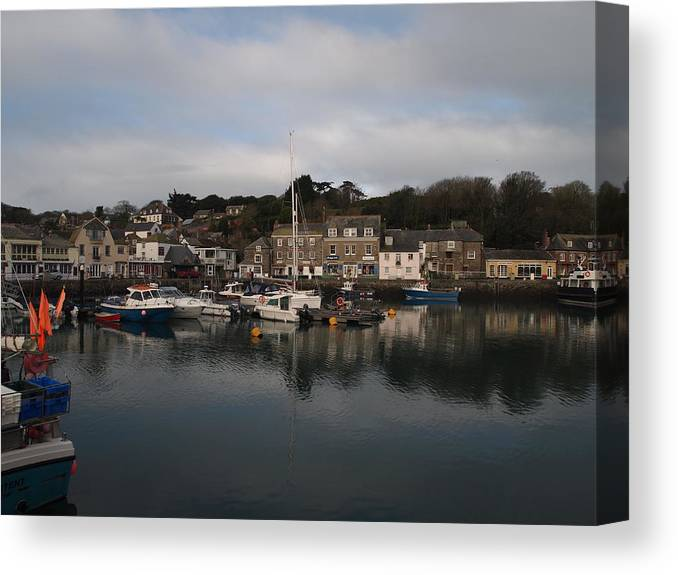 Padstow Canvas Print featuring the photograph Padstow Harbour by Christopher Mercer
