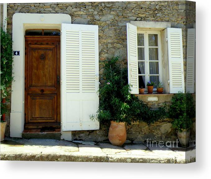 Doors And Windows Canvas Print featuring the photograph Provence Door Number 4 by Lainie Wrightson
