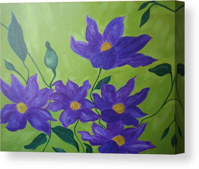 Purple Canvas Print featuring the painting Purple Glory by Berta Barocio-Sullivan