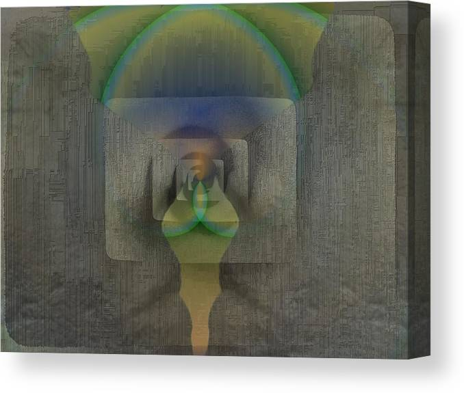 Reflection Canvas Print featuring the digital art Reflections Of The Soul by Tim Allen