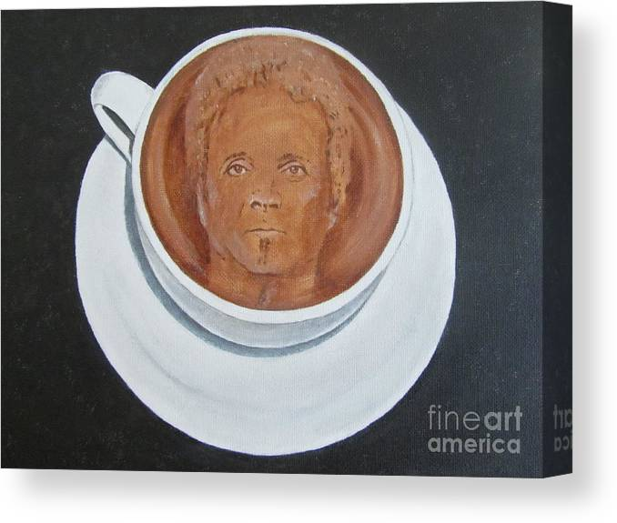 Joey Kramer Canvas Print featuring the painting Rockin'coffee by Jeepee Aero