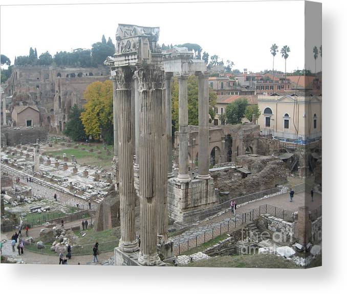 Rome Canvas Print featuring the photograph Roman Forum by Barbara Saccente