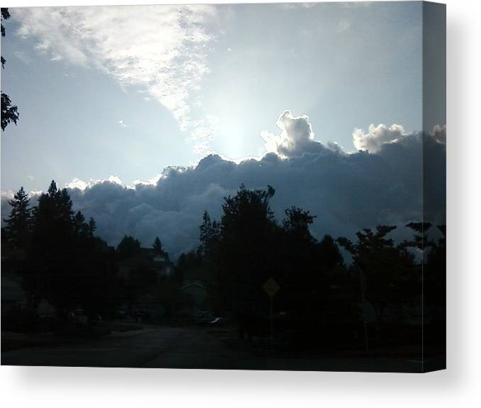 Storm Canvas Print featuring the photograph Storm Clouds by Linda Hutchins