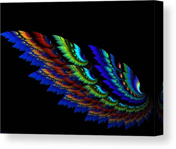 Abstract Canvas Print featuring the digital art Wing by Sarah Niebank