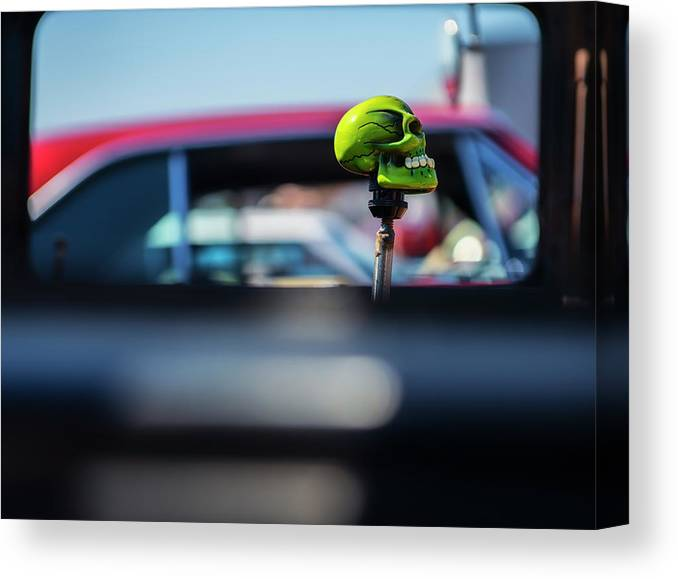 Skull Canvas Print featuring the photograph At The Car Show by Larry Helms