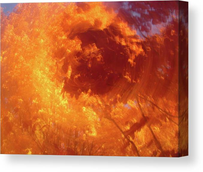 Autumn Canvas Print featuring the photograph Autumnal Swirl Lll by Charles Shedd
