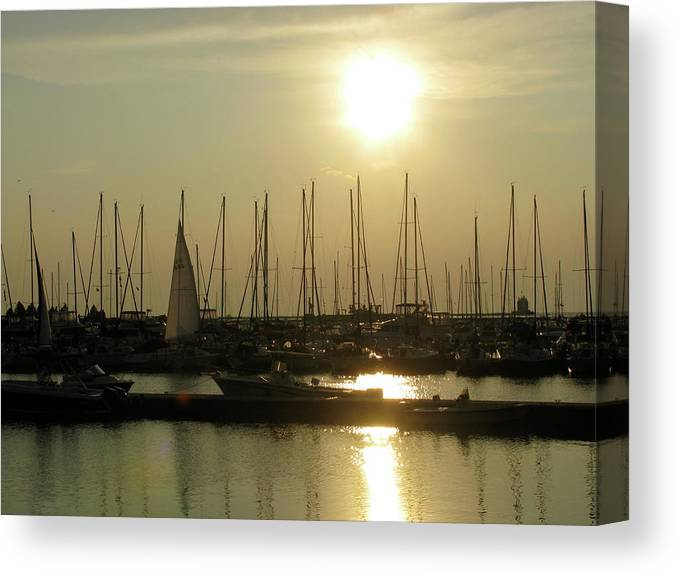 Canvas Print featuring the photograph Boat Docks by Trisha Dahm