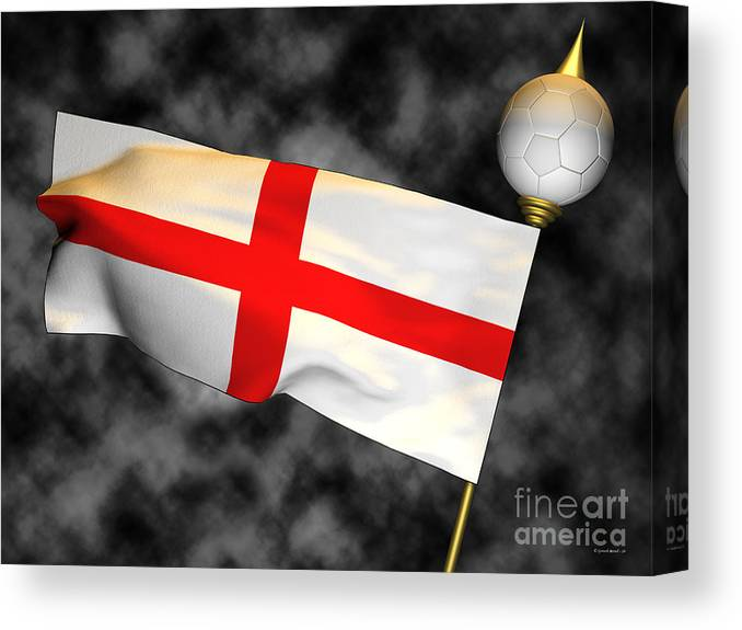 Fifa Canvas Print featuring the photograph Football World Cup Cheer Series - England by Ganesh Barad