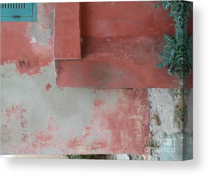 Fania Simon Canvas Print featuring the photograph Goree Texture  by Fania Simon
