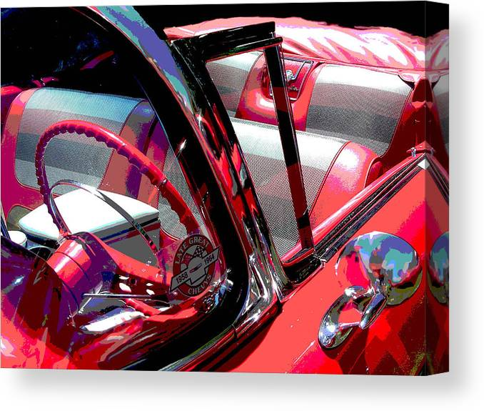 Car Canvas Print featuring the photograph Impala by Audrey Venute